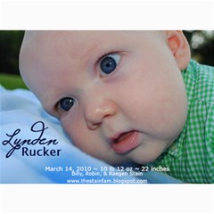 Lynden Rucker Announcement By Robin   5  X 7  Photo Cards   50lr716w1apy   Www Artscow Com 7 x5 Photo Card - 2