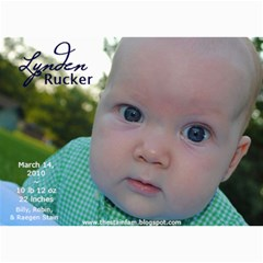 Lynden Rucker Announcement By Robin   5  X 7  Photo Cards   50lr716w1apy   Www Artscow Com 7 x5 Photo Card - 3