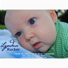 Lynden Rucker Announcement By Robin   5  X 7  Photo Cards   50lr716w1apy   Www Artscow Com 7 x5 Photo Card - 4