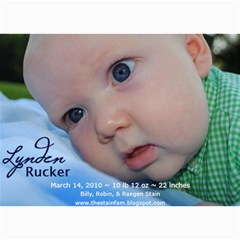 Lynden Rucker Announcement By Robin   5  X 7  Photo Cards   50lr716w1apy   Www Artscow Com 7 x5 Photo Card - 8