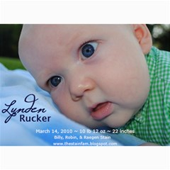 Lynden Rucker Announcement By Robin   5  X 7  Photo Cards   50lr716w1apy   Www Artscow Com 7 x5 Photo Card - 10