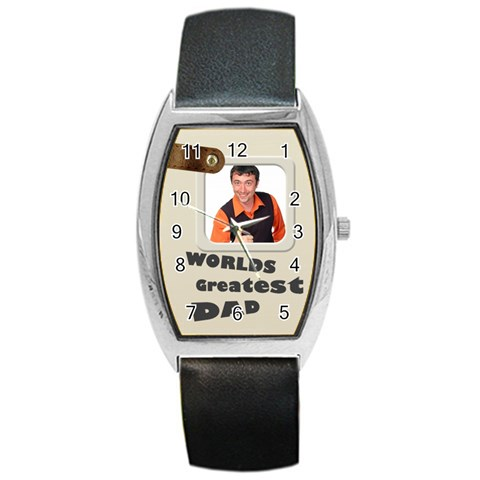 Fathers Day By Wood Johnson   Barrel Style Metal Watch   Ymt3i6btfsaf   Www Artscow Com Front