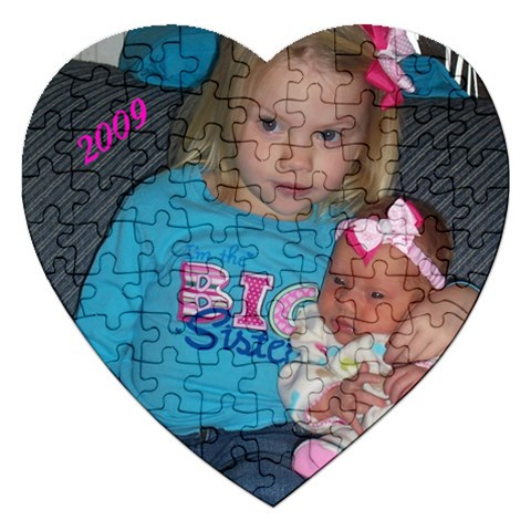 Heart Puzzle With Cady And Heidi By Gretchen Probst   Jigsaw Puzzle (heart)   D3n5mb84u19j   Www Artscow Com Front