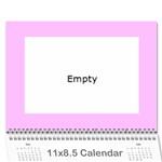 kids calender  - Wall Calendar 11  x 8.5  (12-Months)