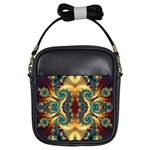 fractal-art square 01 Girls Sling Bag