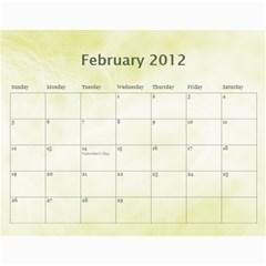 Personal Calendar By Asha Vigilante   Wall Calendar 11  X 8 5  (18 Months)   Fjd24prhuuge   Www Artscow Com Feb 2012