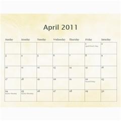 Personal Calendar By Asha Vigilante   Wall Calendar 11  X 8 5  (18 Months)   Fjd24prhuuge   Www Artscow Com Apr 2011