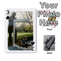 Father s Day By Kristen   Playing Cards 54 Designs   6vw540blpqe8   Www Artscow Com Front - Spade3