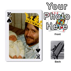 King Father s Day By Kristen   Playing Cards 54 Designs   6vw540blpqe8   Www Artscow Com Front - SpadeK