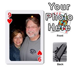 Father s Day By Kristen   Playing Cards 54 Designs   6vw540blpqe8   Www Artscow Com Front - Heart9