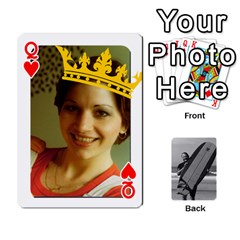 Queen Father s Day By Kristen   Playing Cards 54 Designs   6vw540blpqe8   Www Artscow Com Front - HeartQ