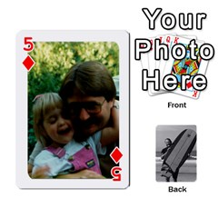Father s Day By Kristen   Playing Cards 54 Designs   6vw540blpqe8   Www Artscow Com Front - Diamond5