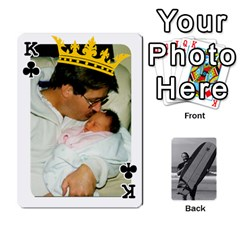 King Father s Day By Kristen   Playing Cards 54 Designs   6vw540blpqe8   Www Artscow Com Front - ClubK