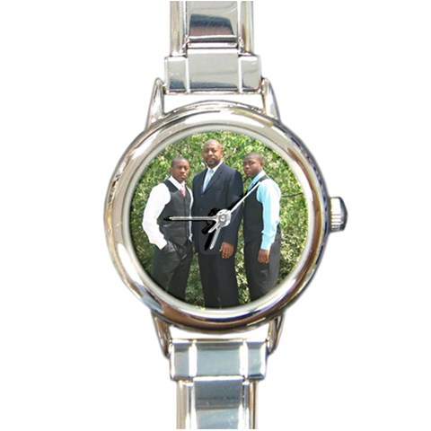 Blocker Boys Watch By Claritha Blocker   Round Italian Charm Watch   3t4e5jpb2jo7   Www Artscow Com Front