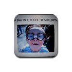 Sheldon Says - A Day In The Life Of Sheldon - Rubber Coaster (Square)