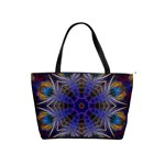 Purple Web Mandala Classic Shoulder Handbag