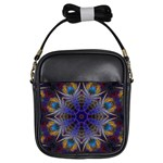 Purple Web Mandala Girls Sling Bag