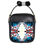 Digital Lace BlueRed Girls Sling Bag