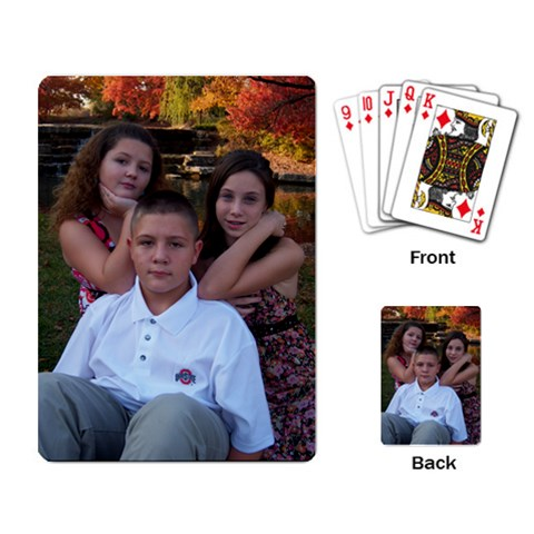 Grandkids Playing Cards By Anna Marie   Playing Cards Single Design   T6ca22pd98yj   Www Artscow Com Back