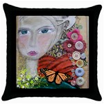cushionb - Throw Pillow Case (Black)
