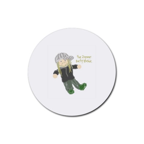 The Zrenner Poetry Plushie By Zre   Rubber Coaster (round)   Cthkv11x0vm4   Www Artscow Com Front