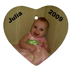 Julia 2009 By Per Westman   Heart Ornament (two Sides)   82cokcf97tfd   Www Artscow Com Front