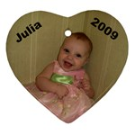 Julia 2009 - Heart Ornament (Two Sides)