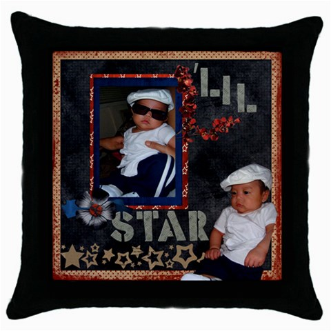 Ekyn By Sandi   Throw Pillow Case (black)   Vqiih6n1iqiu   Www Artscow Com Front