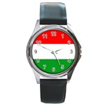 big_Hungarian_flag Round Metal Watch