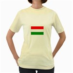 big_Hungarian_flag Women s Yellow T-Shirt