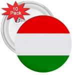 big_Hungarian_flag 3  Button (10 pack)
