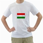 big_Hungarian_flag White T-Shirt