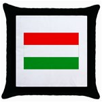big_Hungarian_flag Throw Pillow Case (Black)