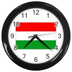 big_Hungarian_flag Wall Clock (Black)