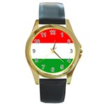 big_Hungarian_flag Round Gold Metal Watch