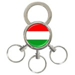 big_Hungarian_flag 3-Ring Key Chain