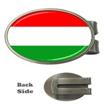 big_Hungarian_flag Money Clip (Oval)