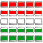 big_Hungarian_flag 9mm Italian Charm (25 pack)
