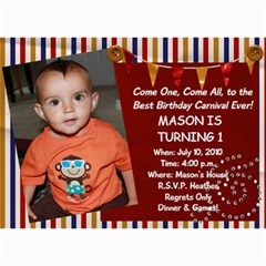 Mason s 1st B Day By Heather    5  X 7  Photo Cards   Mihk1p3ksp12   Www Artscow Com 7 x5 Photo Card - 7