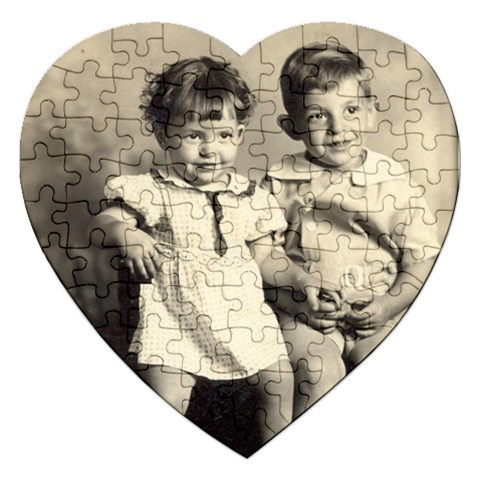 Mom And Uncle Jimmy By Melinda   Jigsaw Puzzle (heart)   Pur1sh4xxa1l   Www Artscow Com Front