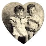 Mom and Uncle Jimmy - Jigsaw Puzzle (Heart)