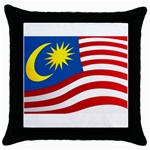 malaysia_flag.jpg 1 Throw Pillow Case (Black)