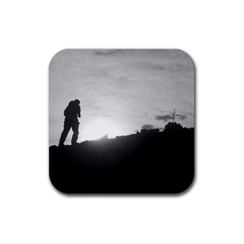 Climbing The Mountain By Melinda   Rubber Coaster (square)   Giqfk4dp4ysr   Www Artscow Com Front