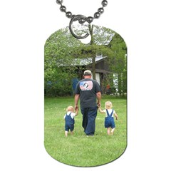 Dog Tags Kids And Da By Faith Hale   Dog Tag (two Sides)   Ukou9k07lem7   Www Artscow Com Front