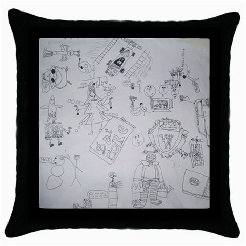 Artwork Cushion By Catvinnat   Throw Pillow Case (black)   47nnwkc22ara   Www Artscow Com Front