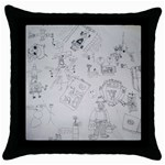 Artwork Cushion - Throw Pillow Case (Black)