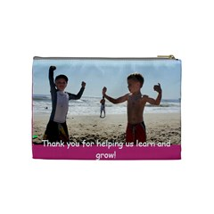 Tyler & Justin Miss Shelly Gift By Kathryn Robinson   Cosmetic Bag (medium)   7j46o7ngalgb   Www Artscow Com Back