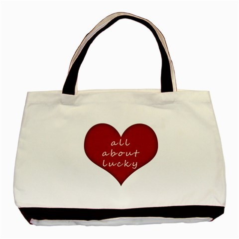 All About Lucky By Vivi   Basic Tote Bag   H5vpn2ihtsbq   Www Artscow Com Front