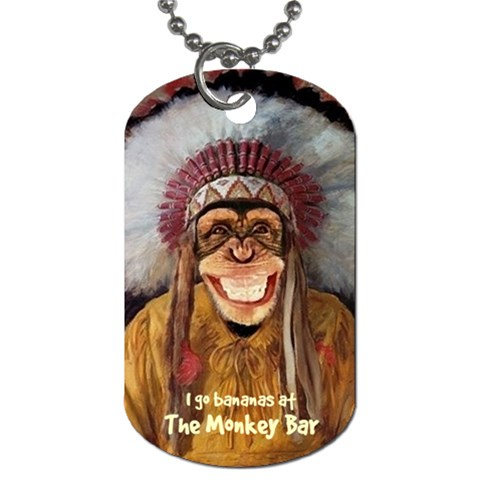 Monkey Bar  Tag 76 By Debra Macv   Dog Tag (one Side)   Shsgfs1ubhzt   Www Artscow Com Front