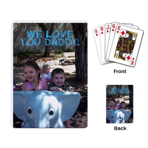 Daddy Cards By Carley   Playing Cards Single Design   Nr0bcvgh07eg   Www Artscow Com Back